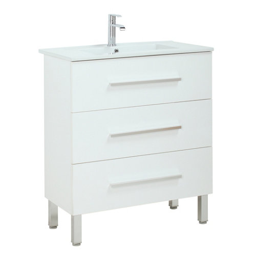 Mueble de baño con lavabo madrid blanco 60x40 cm