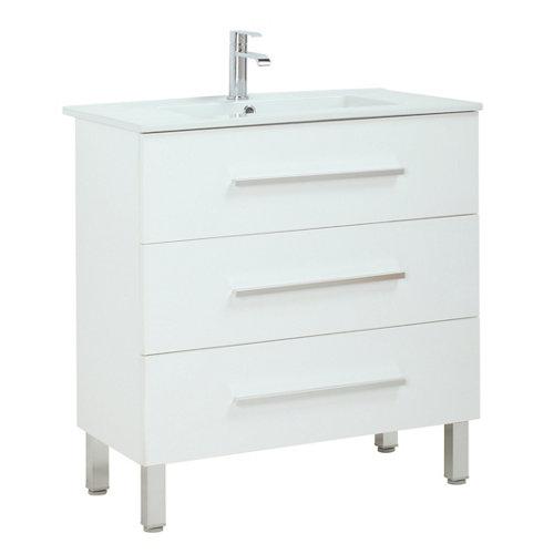Mueble de baño con lavabo madrid blanco 80x40 cm