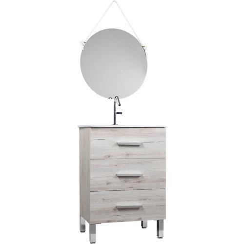 Mueble de baño con lavabo madrid roble suave 60x45 cm