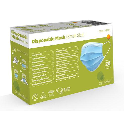 20 mascarillas higiénicas desechables para niños