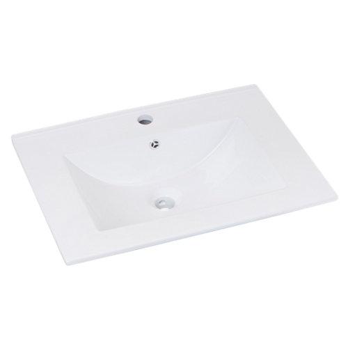 Mueble de baño con lavabo madrid nogal 60x45 cm