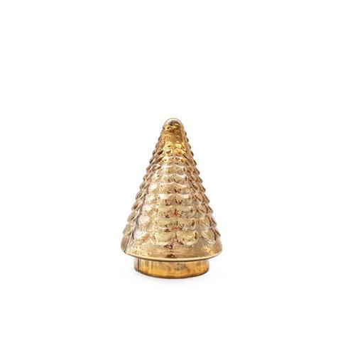 Árbol cristal dorado 13x13x20cm