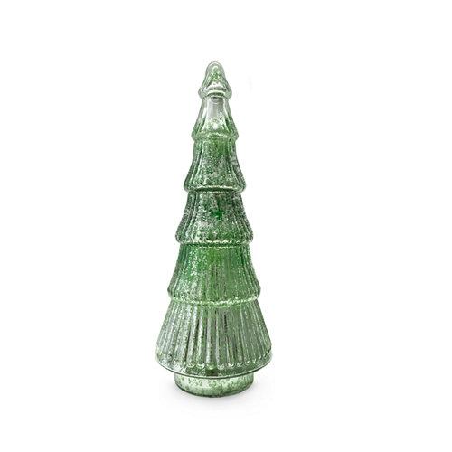 Árbol cristal verde 15x15x40cm