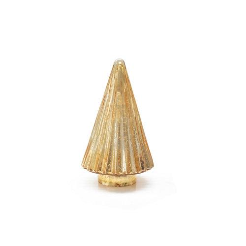 Árbol cristal dorado 14x14x25cm