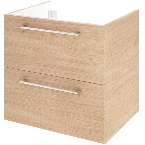 Mueble de baño con lavabo remix con 2 cajones roble 60x48 cm