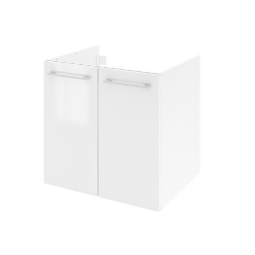 Mueble de baño con lavabo remix con 2 puertas blanco 60x48 cm