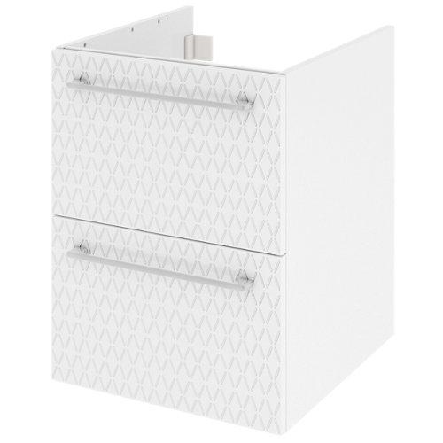 Mueble de baño con lavabo remix serigrafiado con 2 cajones blanco 45x48 cm