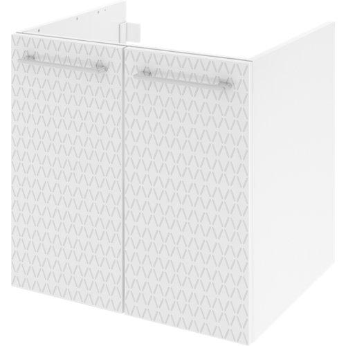 Mueble de baño con lavabo remix serigrafiado con 2 puertas blanco 60x48 cm