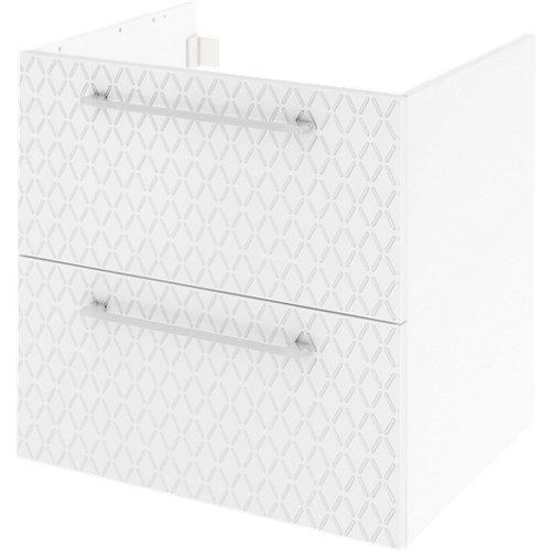 Mueble de baño con lavabo remix serigrafiado con 2 cajones blanco 60x48 cm