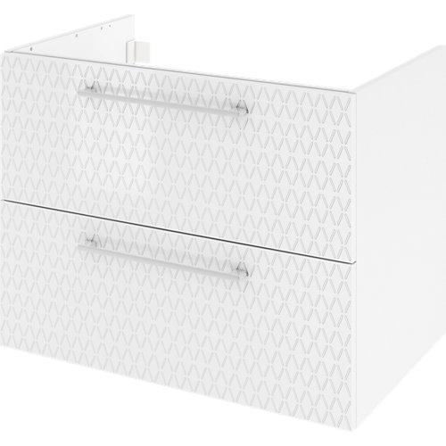 Mueble de baño con lavabo remix serigrafiado con 2 cajones blanco 75x48 cm