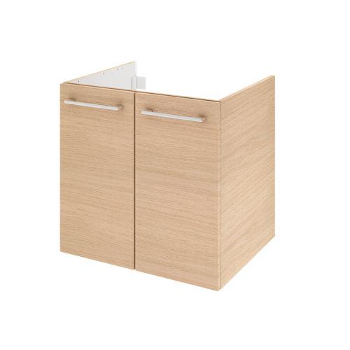 Mueble de baño con lavabo remix con 2 puertas roble 60x48 cm