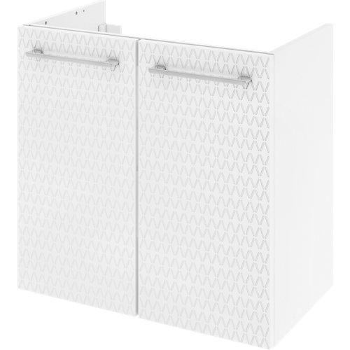 Mueble de baño con lavabo remix serigrafiado con 2 puertas blanco 60x35 cm