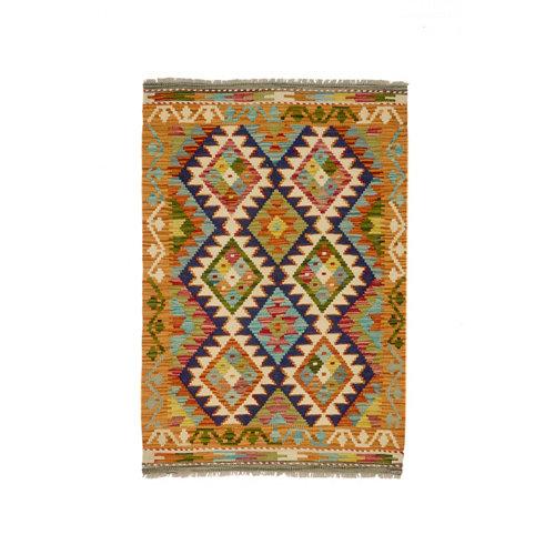 Alfombra multicolor lana kilim herat 2 80 x 120cm