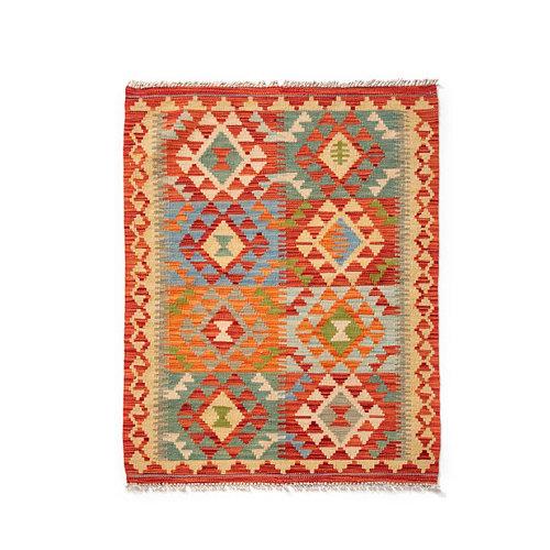 Alfombra multicolor lana kilim herat 5 80 x 120cm