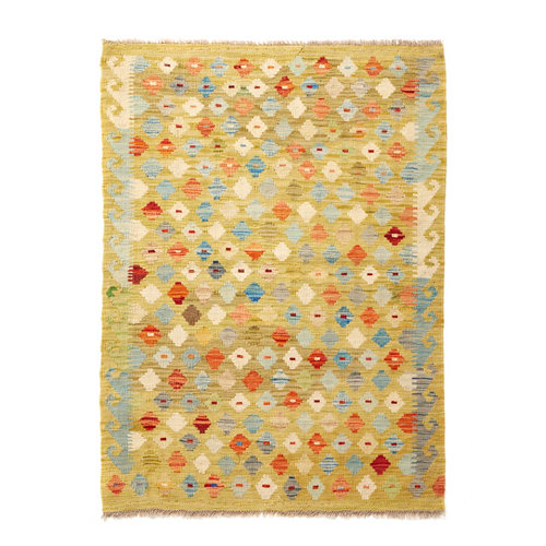 Alfombra multicolor lana kilim herat 1 100 x 150cm
