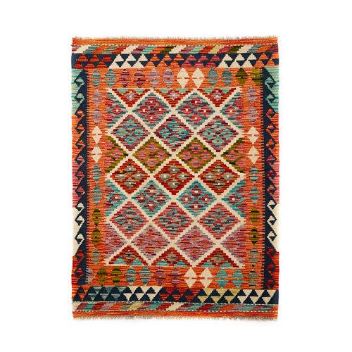 Alfombra multicolor lana kilim herat 2 100 x 150cm