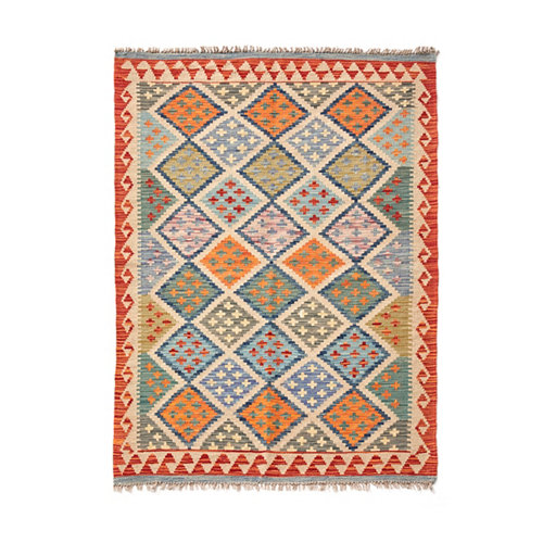Alfombra multicolor lana kilim herat 3 100 x 150cm