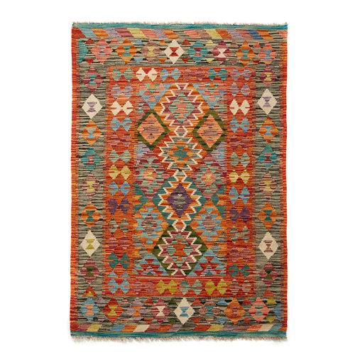 Alfombra multicolor lana kilim herat 4 100 x 150cm