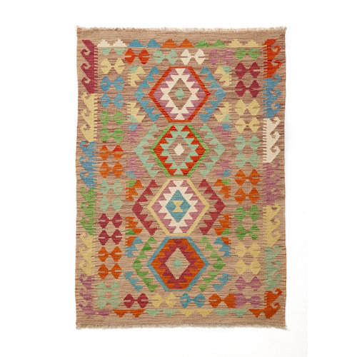 Alfombra multicolor lana kilim herat 5 100 x 150cm