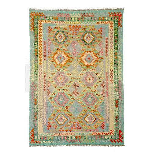 Alfombra multicolor lana kilim herat 2 200 x 300cm