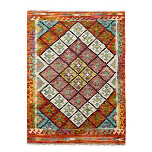 Alfombra multicolor lana kilim herat 4 120 x 180cm