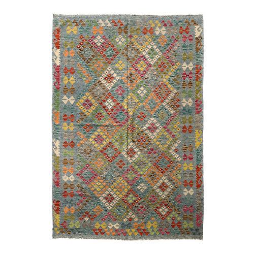 Alfombra multicolor lana kilim herat 4 200 x 300cm