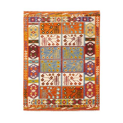 Alfombra multicolor lana kilim herat 5 150 x 200cm