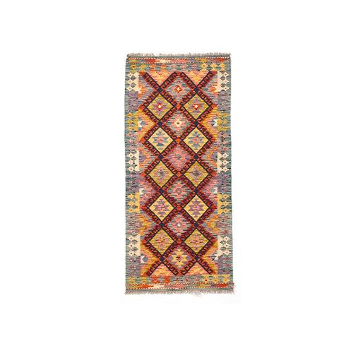 Alfombra multicolor lana kilim herat 5 70 x 200cm