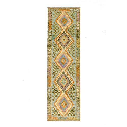 Alfombra multicolor lana kilim herat 1 80 x 300cm
