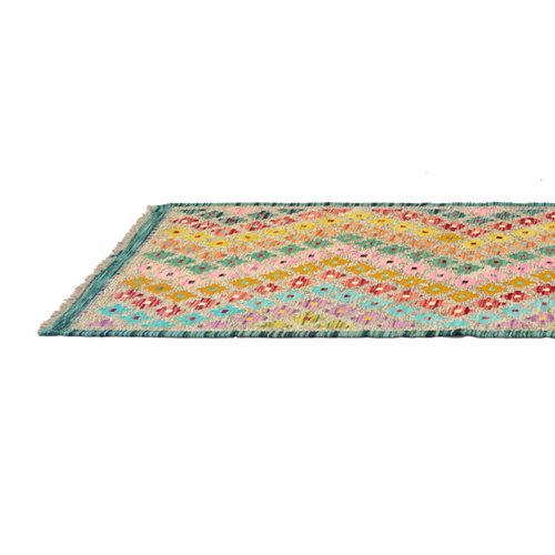 Alfombra multicolor lana kilim herat 2 80 x 300cm