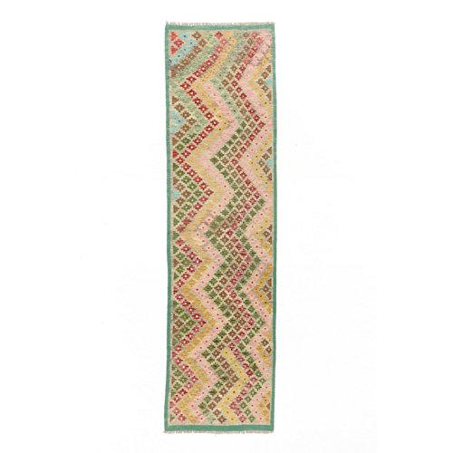 Alfombra multicolor lana kilim herat 3 80 x 300cm
