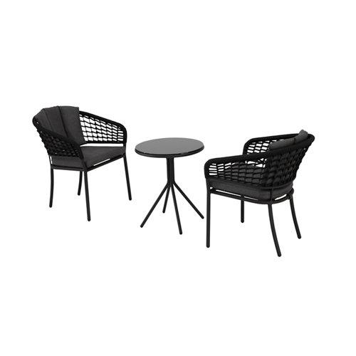 Set de muebles de porche de aluminio pamplona para 2 personas