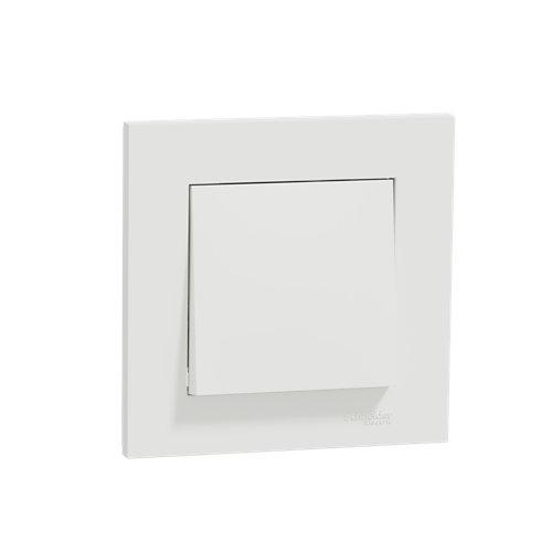Pack de 5 interruptores/conmutadores schneider electric miluz blanco