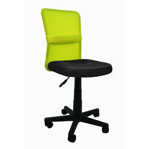 Silla de escritorio con respaldo alba negro y verde