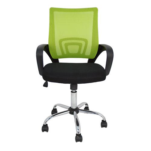 Silla de escritorio con respaldo martina negro y verde