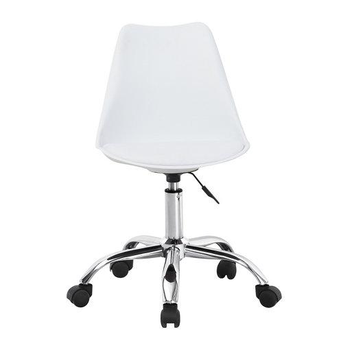 Silla de escritorio con respaldo adriana blanca