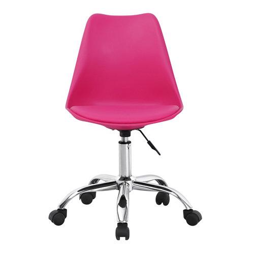 Silla de escritorio con respaldo adriana rosa