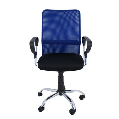 Silla de escritorio con respaldo helena negro y azul