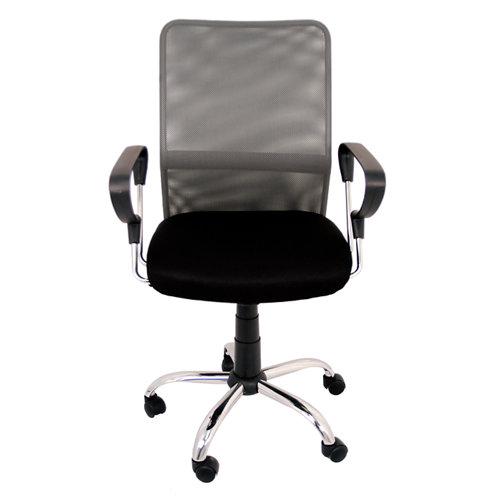 Silla de escritorio con respaldo helena negro y gris
