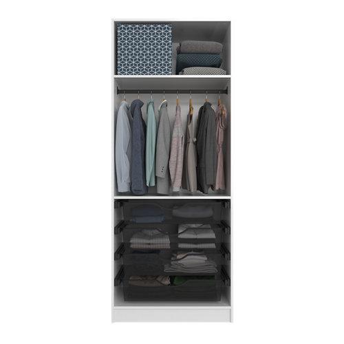 Composición nº38 spaceo home armario kit vestidor sin puertas blanco 240x80x60cm