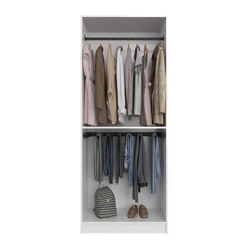 Composición nº39 spaceo home armario kit vestidor sin puertas blanco 200x80x60cm
