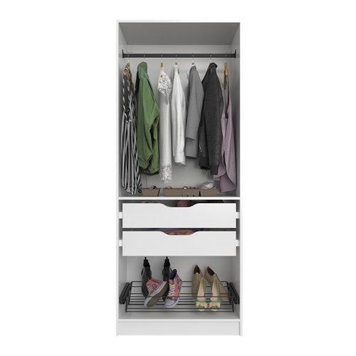 Composición nº41 spaceo home armario kit vestidor sin puertas blanco 200x80x45cm