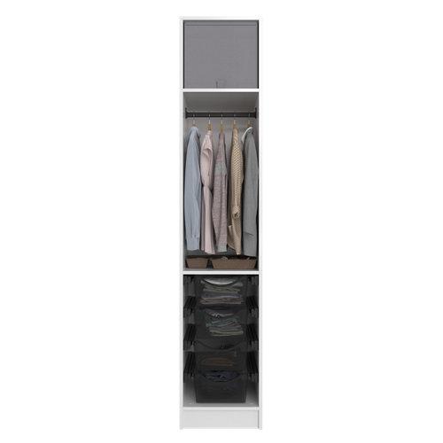 Composición nº43 spaceo home armario kit vestidor sin puertas blanco 240x40x60cm
