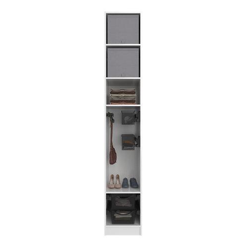 Composición nº44 spaceo home armario kit vestidor sin puertas blanco 240x40x60cm