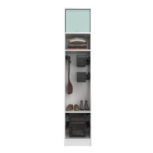 Composición nº45 spaceo home armario kit vestidor sin puertas blanco 240x40x60cm