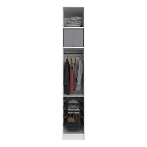 Composición nº46 spaceo home armario kit vestidor sin puertas blanco 240x40x60cm