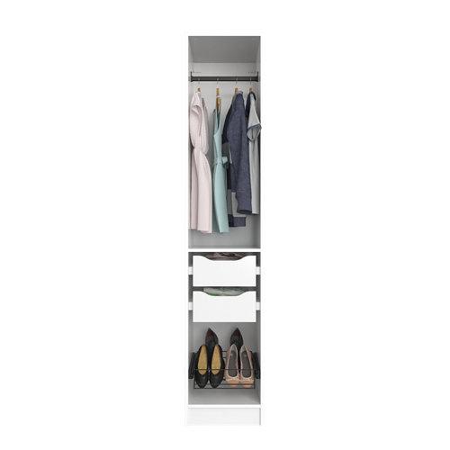 Composición nº47 spaceo home armario kit vestidor sin puertas blanco 240x40x60cm
