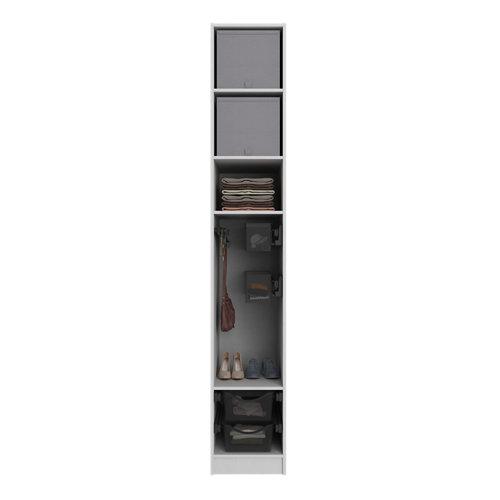 Composición nº48 spaceo home armario kit vestidor sin puertas textil 240x40x60cm