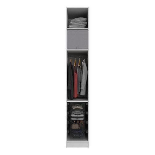 Composición nº49 spaceo home armario kit vestidor sin puertas textil 240x40x60cm