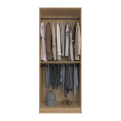 Composición nº51 spaceo home armario kit vestidor sin puertas roble 240x80x60cm